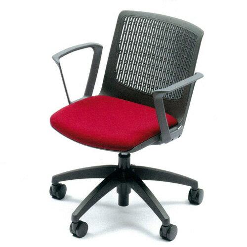 ミーティングチェア 布張り レザー張り キャスター付き 肘付き 回転5本脚 椅子 イス いす 会議椅子 オフィスチェア 会議室 デスクチェア パソコンチェア MC-558