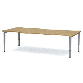 ダイニングテーブル 天板昇降タイプ 車いす用テーブル 車椅子 車イス 机 高さ調節 施設用テーブル 介護用テーブル 昇降テーブル 教育施設用 デスク NJT-2412