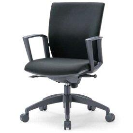 チェア ローバック 肘付 キャスター付 布張り ビニールレザー張り 10色展開 ランバーサポート 回転イス オフィスチェア 事務用椅子 OS-2215SJ 送料無料