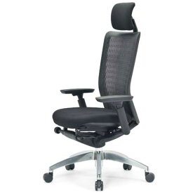エルゴノミクスチェア メッシュ ハイバック ヘッドレスト 可動肘付 キャスター付 布張り 回転イス エグゼクティブチェア 事務用椅子 R-5675 送料無料 LOOKIT オフィス家具 インテリア