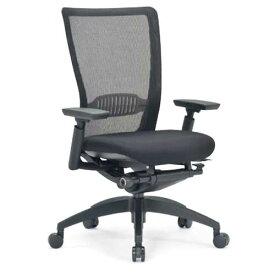 ★送料無料★ エルゴノミクスチェア ミドルバック 可動肘付 キャスター付 布張り メッシュチェア オフィスチェア エグゼクティブチェア 事務用椅子 R-5715