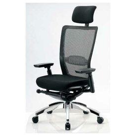 エルゴノミクスチェア ハイバック ヘッドレスト 可動肘付 キャスター付 布張り メッシュチェア エグゼクティブチェア 事務用椅子 R-5775 送料無料 ルキット オフィス家具 インテリア