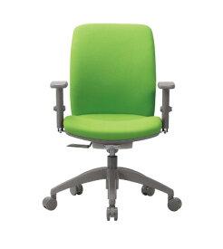 チェア ミドルバック 可動肘付 キャスター付 布張り ビニールレザー張り 11色展開 回転イス オフィスチェア 事務用椅子 OA-2135AJ 送料無料 LOOKIT オフィス家具 インテリア