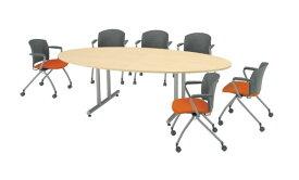【最大1万円クーポン11月26日2時まで】会議テーブル ミーティング 打ち合わせ用 DWS-2412E LOOKIT オフィス家具 インテリア