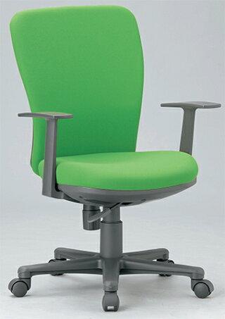 チェアミドルバック肘付キャスター付布張りビニールレザー張り11色展開OAシリーズ事務用椅子OA-1255送料無料