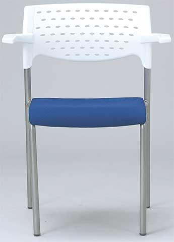 ミーティングチェアいす椅子イス肘付きカラフルMC-202WG送料無料