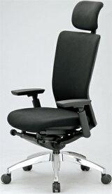 エルゴノミクスチェア ハイバック ヘッドレスト 可動肘付 キャスター付 布張り 回転イス オフィスチェア 事務用椅子 送料無料 R-5575 LOOKIT オフィス家具 インテリア