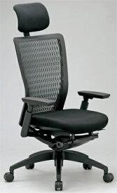 エルゴノミクスチェア メッシュ ハイバック ヘッドレスト 可動肘付 キャスター付 布張り 回転イス エグゼクティブチェア 事務用椅子 R-5655 送料無料 LOOKIT オフィス家具 インテリア