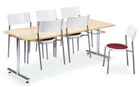 送料無料 ダイニングテーブル いす掛けタイプ 収納 6人掛け 机 DYM-1875