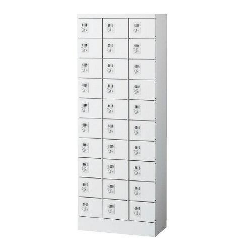 ロッカー30人用内筒交換錠鍵付きオフィスロッカー貴重品私物ロッカー化粧室交換型キーKLKW-30-TN