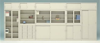 キャビネット引き違い書庫上下セットガラス戸鍵付きオフィス家具引戸日本製国産人気収納庫A4書類本棚物置書庫収納オフィス72%OFFG-33SGS