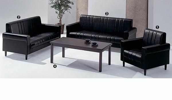 応接セット 役員用家具 高級 中型 ソファ アームチェア センターテーブル 応接室 社長室用 皮革 ビニールレザー 布 FS-26V