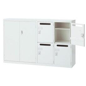 受付カウンター 両開き書庫 + パーソナルロッカー 書庫型カウンター ハイカウンター インフォメーションカウンター 記帳台 受付台 ALZ-HM-TSW