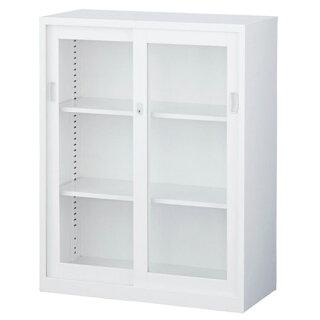 ガラス引戸書庫ベース付き本棚書棚会社用ANG-34G