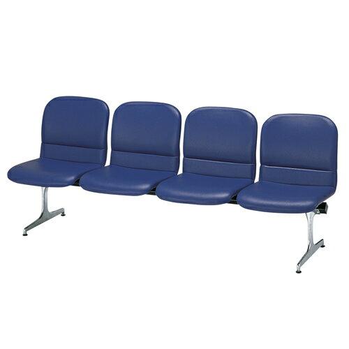 ロビーチェア 背付き 合成皮革 4人用 病院 待合室 いす オフィス ソファ RD-54L