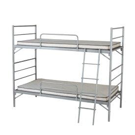 【 法人 送料無料 】 2段ベッド 寝室 睡眠 簡易 シングル 二段ベッド ふとん 家具 インテリア シンプル スチールベッド シンプル 組立式 仮眠 ベッド EBD-B2