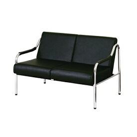 応接椅子 2人掛け 合皮 チェア 応接チェア 会議チェア 2人用 ラブ 革張り レザー張り シンプル 二人掛けソファ オフィス 応接室 会議室 ロビー GRL-2BK