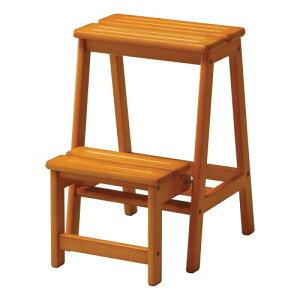 ステップチェア 2段 木製 はしご 脚立 踏み台 STC-2 ルキット オフィス家具 インテリア