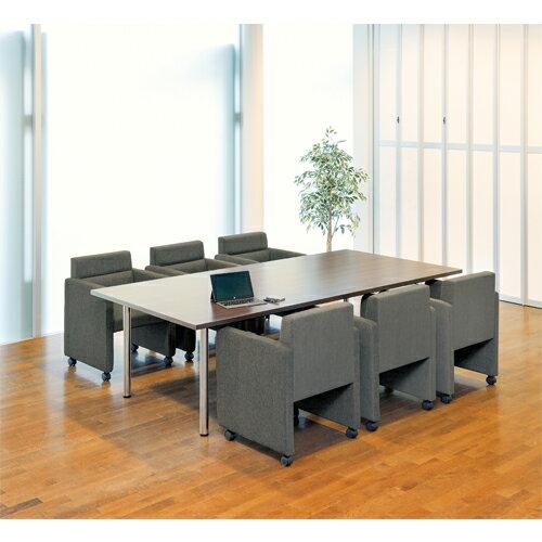 応接セット 応接チェア 会議チェア 会議テーブル 大型 キャスター付き 革張り シンプル 一人掛けソファ 高級 オフィス 応接室 会議室 シングル ZCL-590S