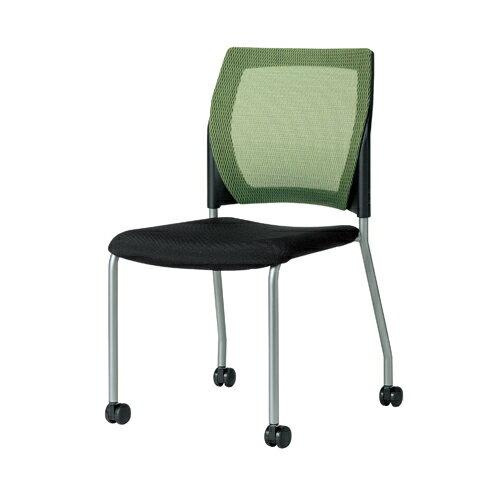 スタッキングチェア キャスター脚 肘なしチェア ミーティングチェア メッシュチェア 布張りチェア オフィス家具 オフィスチェア 椅子 MC-M10