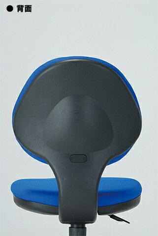 チェアキャスター付布張り3色ブラックグレーブルー回転イスオフィスチェア事務用椅子オフィス家具GY-129