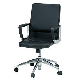 【法人限定】 エグゼクティブチェア 肘付 キャスター付 3色 ブラック ブラウン ホワイト 回転イス オフィスチェア 社長用 役員用 事務用椅子 EU-590 LOOKIT オフィス家具 インテリア