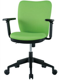 【法人限定】 チェア 可動肘付 キャスター付 布張り 4色 オレンジ ブラック ライム ブルー 回転イス オフィスチェア 椅子 OC-102M ルキット オフィス家具 インテリア
