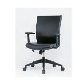【法人限定】 エグゼクティブチェア 樹脂脚 可動肘つき 肘付きチェア レザー張りチェア デスクチェア ミーティングチェア オフィスチェア 会議室 ERA-17MT