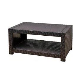 【最大1万円クーポン11月26日2時まで】【法人限定】 センターテーブル ラタン調 樹脂製テーブル ローテーブル 軽量テーブル ガーデンテーブル 打ち合わせスペース ミーティングスペース TAN-3T