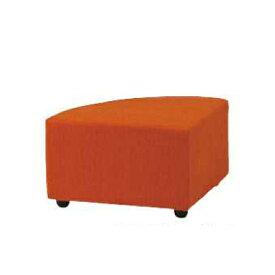 ロビーチェア 背無 コーナー 1人用 1人掛け 布張り シングルソファ ベンチソファ 扇型 入隅 円形 コンパクト オフィス 椅子 チェア 待合スペース DLC-21NC