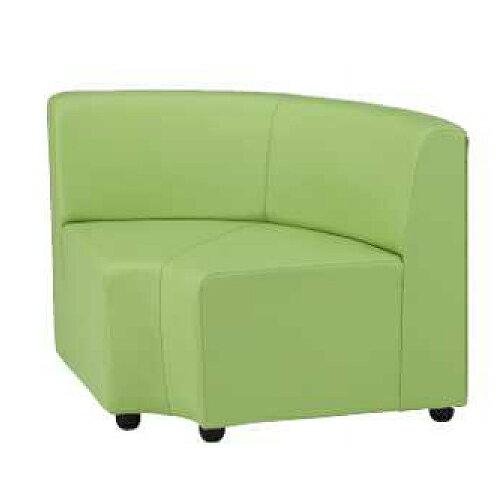 ロビーチェア 1人用 1人掛け ビニールレザー張り 入隅 円形 コンパクト 扇型 コーナー 待合スペース オフィスチェア ソファ 椅子 チェア シンプル DLC-R20L