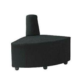 ロビーチェア 1人用 1人掛け 布張り 内コーナー 扇型 出隅 円形 コンパクト オフィス ソファ 椅子 チェア アームチェア エントランス 待合スペース DLC-R30