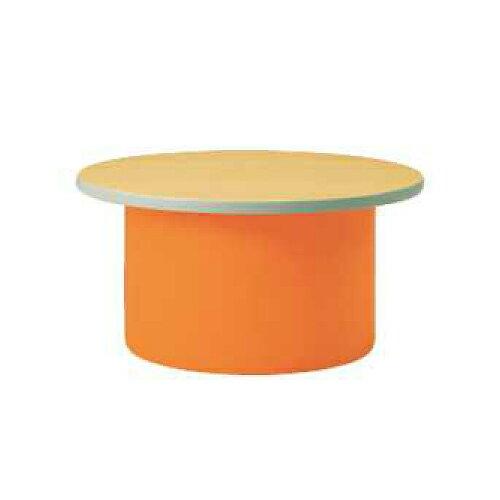 キッズテーブル ラウンドテーブル 子ども用 作業台 ミニテーブル サイドテーブル カラフル キッズスペース 広場 施設 保育園 幼稚園 子ども部屋 L9010-90MN