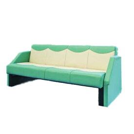 【法人限定】ソファベッド ベッド 簡易ベッド カラフル ポップ ロングソファ 4人掛け ビニールレザー張り 長椅子 ベンチ 椅子 チェア フルフラット SF-1970