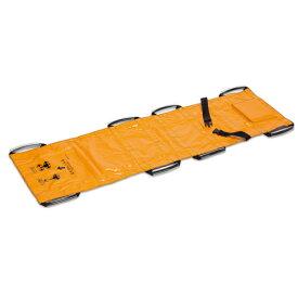 【法人限定】担架 耐荷重100kg 緊急時用 災害対策 搬送用 救護用品 非常用品 教育施設 オフィス 事務所 ターポリン救護担架 OT-150-901-5