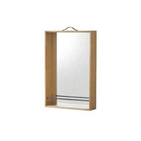 ミラー 収納付きミラー 天然木フレーム 鏡 置き型ミラー 小物収納 インテリア小物 北欧 おしゃれ ナチュラル モダン 角型ミラー NW-115
