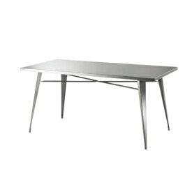 【最大1万円クーポン9月24日2時まで】ダイニングテーブル 長方形タイプ 幅151cm 角型テーブル ステンレス製テーブル クール おしゃれ 食卓 テーブル 机 ステンレス STN-334
