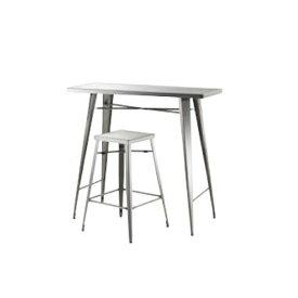カウンターテーブル セット テーブルセット チェアセット ハイテーブル ハイチェア ハイスツール バー リビング ダイニング おしゃれ ステンレス STN-336S
