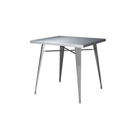 【最大1万円クーポン9月24日2時まで】ダイニングテーブル 正方形 角型テーブル 二人用 食卓 ステンレス製テーブル シルバー シンプル おしゃれ テーブル ステンレス STN-337