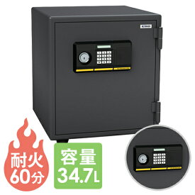 金庫 テンキー シリンダー ダブルロック 耐火金庫 エーコー 家庭用 BES-25PK