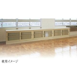 ガラス引戸書庫BER-ST11(N)2列3段A4資料学校