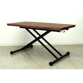 昇降テーブル リフティングテーブル ダイニングテーブル リビングテーブル 幅120cm おしゃれ 高さ調節 木製 北欧 机 モダン 作業机 QUATTRO KELT-120LT