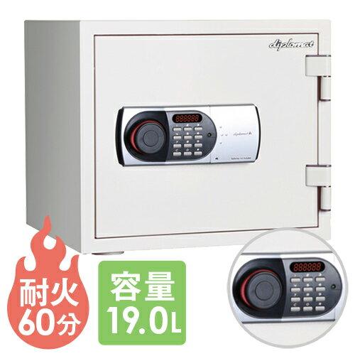 送料無料 耐火金庫 テンキー 19L 警報装置 金庫 119EN88