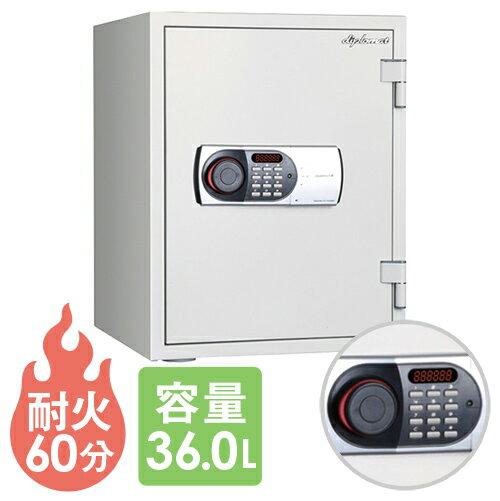 送料無料 耐火金庫 テンキー 36L 警報装置 防犯 530EN88 ルキット オフィス家具 インテリア