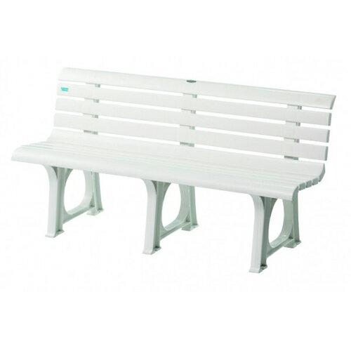 ベンチ プラスチックベンチ 白 軽量 ポリプロピレン 水に強い プール 可愛い 家庭 店舗 施設 スイミングスクール レジャー 公園 屋外 庭 樹脂 S-8490 ルキット オフィス家具 インテリア