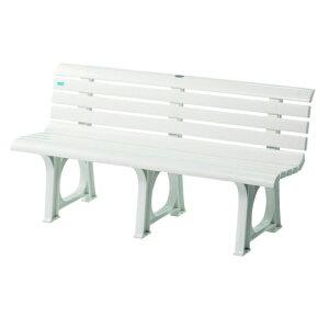 ベンチ プラスチックベンチ 白 軽量 ポリプロピレン 水に強い プール 可愛い 家庭 店舗 施設 スイミングスクール レジャー 公園 屋外 庭 樹脂 S-8490 LOOKIT オフィス家具 インテリア