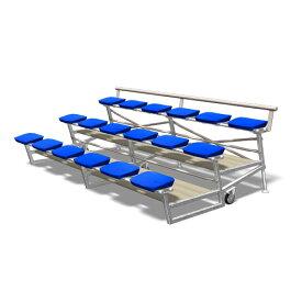 ポータブルスタンド 18人用 セパレート仕様 キャスター付き スチール製 移動式 イベント 行事 スポーツ施設 教育施設 設備 観戦席 観客席 S-0148