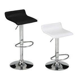 カウンターチェア バーチェア ハイチェア 合成皮革 レザー ホワイト ブラック 昇降式 おしゃれ ハイスツール シック ミッドセンチュリー 高級 椅子 白 黒 TCC-42