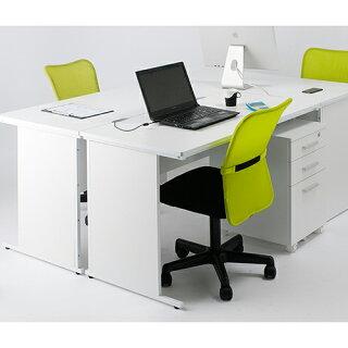 オフィスデスク事務机平机幅100cmホワイト会社オフィス机デスクワークデスク白平デスクパソコンデスクPCデスクつくえSOHO木製ST60V-1000