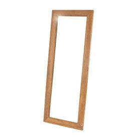 【最大1万円クーポン2/20限定】スタンドミラー 木製 姿見 鏡 全身用 立て掛け式 チーク 全身鏡 ウォールミラー 大型 チーク 無垢 玄関 インテリア おしゃれ 鏡台 かがみ カガミ お洒落 Q181XP